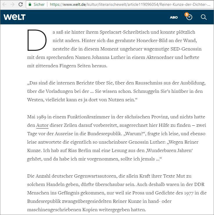 Reiner Kunze über Sprachgenderismus als aggressive Ideologie - PT ...